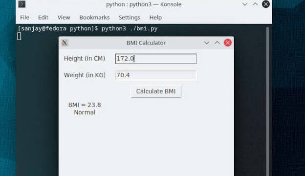 Computer science with python project BMI Calculator (GUI)